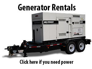 Generator rental, Emergency Generator rental